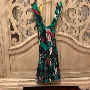 Nicole Miller crossback dress floral